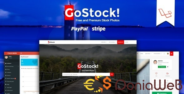 GoStock v2.6 - Free and Premium Stock Photos Script