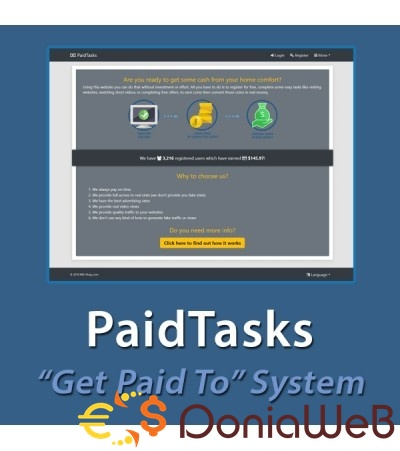 PaidTasks v2.0.0 - Get Paid To System
