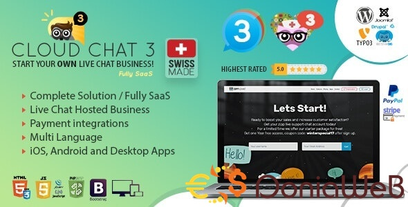 Fully SaaS Live Support Chat v2.5 - Cloud Chat 3