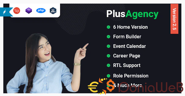 PlusAgency v2.6.0 - Business Agency CMS & Website Management System