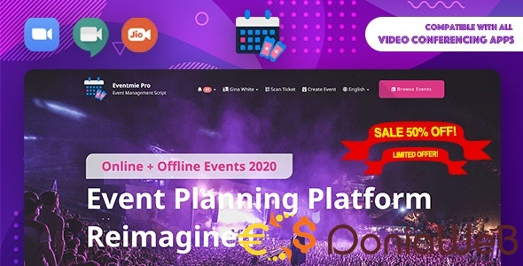Eventmie Pro v1.4.0 - Online + Offline Events & Classes Tickets Selling & Management Multi-vendor Platform