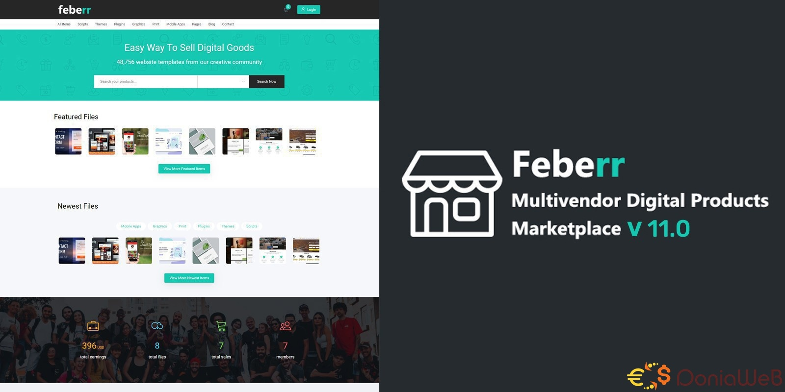 Feberr v11.0 - Multivendor Digital Products Marketplace