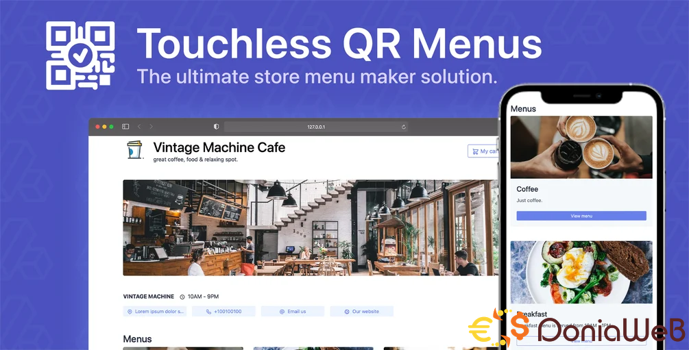 EasyQR v4.1.0 [Extended License] - Touchless QR Menu Creator Software