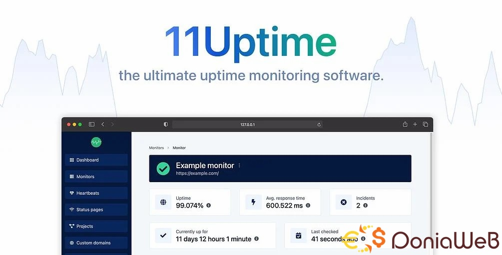 Uptime & Cronjob Monitoring software [Extended License]