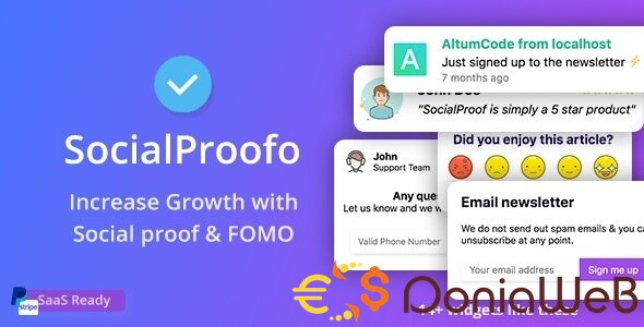 SocialProofo v6.1.0 [Extended License] - 14+ Social Proof & FOMO Notifications for Growth (SaaS Platform)